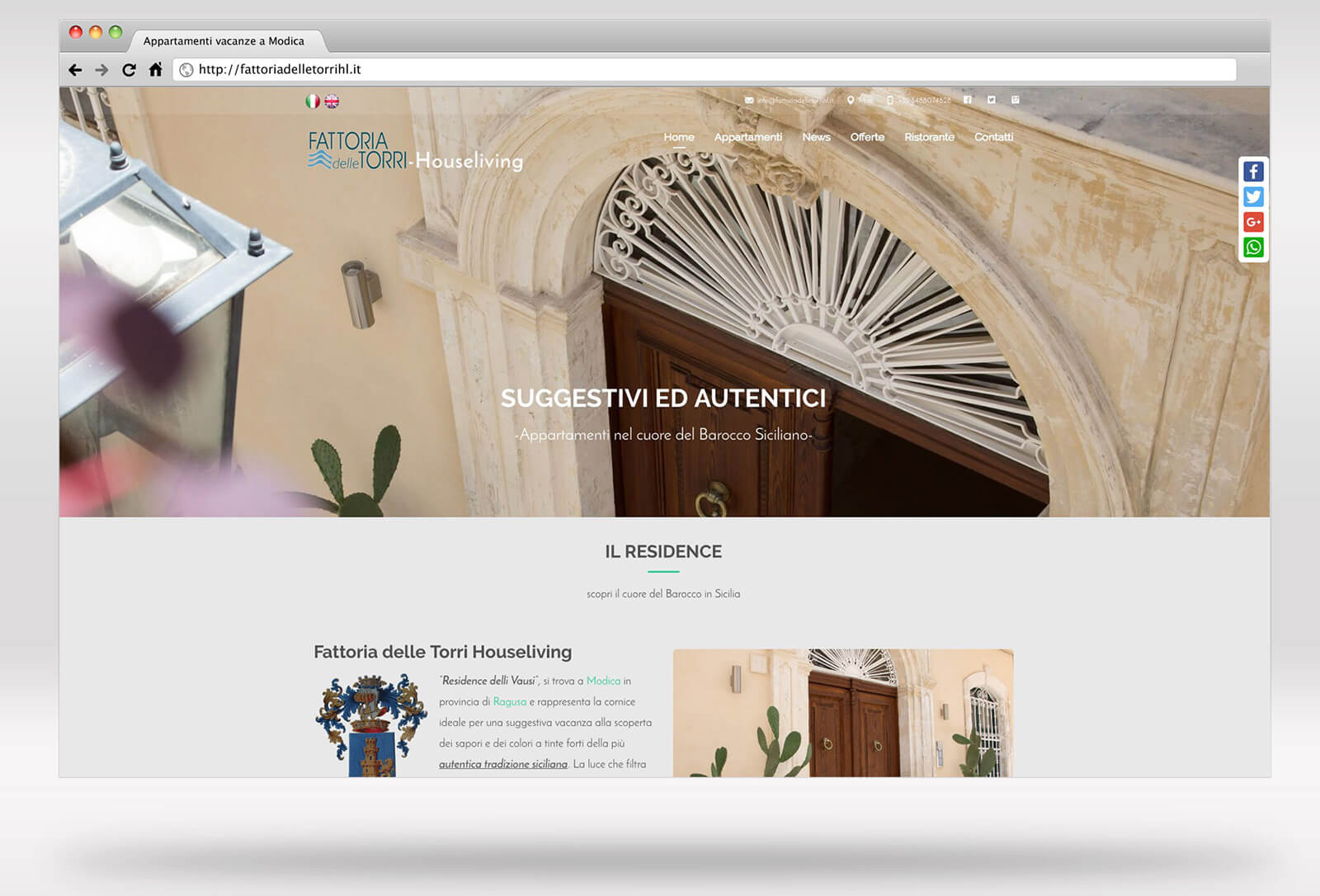 Sito web - Houseliving - Residence Turistico